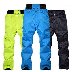 Pantalon de Ski épais imperméable pour hommes | Pantalon de Snowboard, imperméable et chaud, pour l'extérieur, pantalon de randonnée, pantalon de Ski respirant, 6 couleurs, hiver