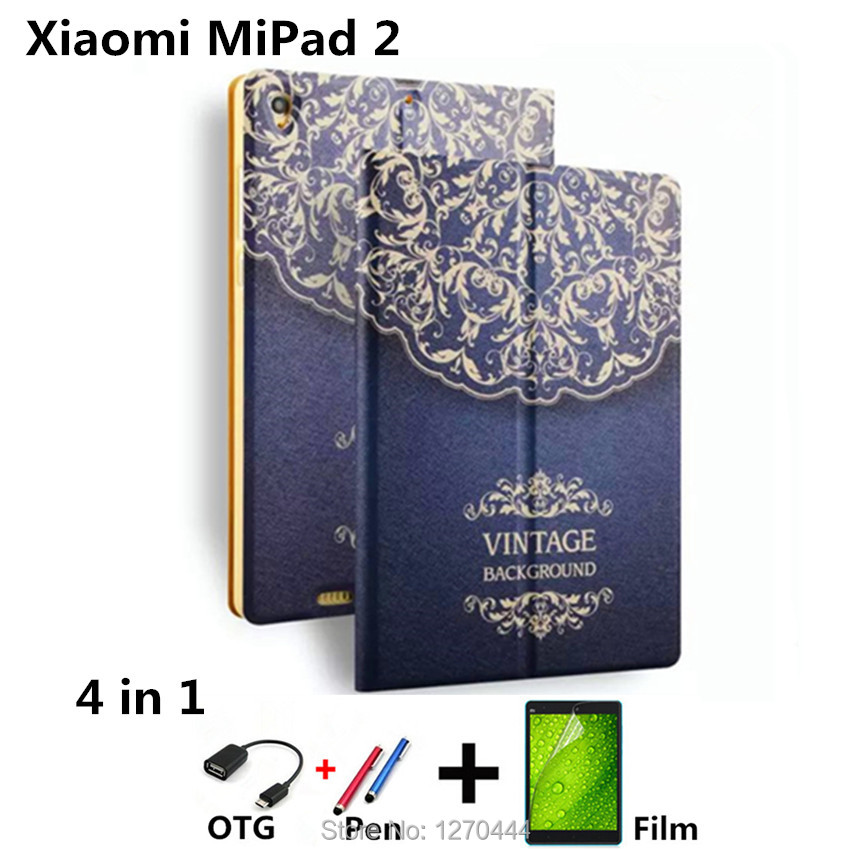 Colored drawing cover For 2017 Xiaomi Mi Pad 3 MiPad 3 Leather Cases Cover for Xiaomi