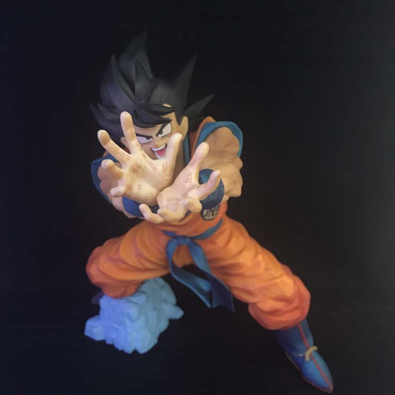 Free Shipping 7 Dragon Ball Z Anime Son Goku Gokou Skill Kamehameha Ver. oxed 18cm PVC Action Figure Model Doll Toys Gift dragon ball figurine son goku children styling action figures doll pvc model toys free shipping