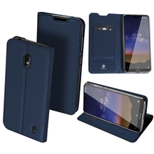 Original Dux Ducis Leather Case For Nokia 2.2 Coque Luxury Ultra Thin Flip Wallet Card Slot Stand Cover Cases