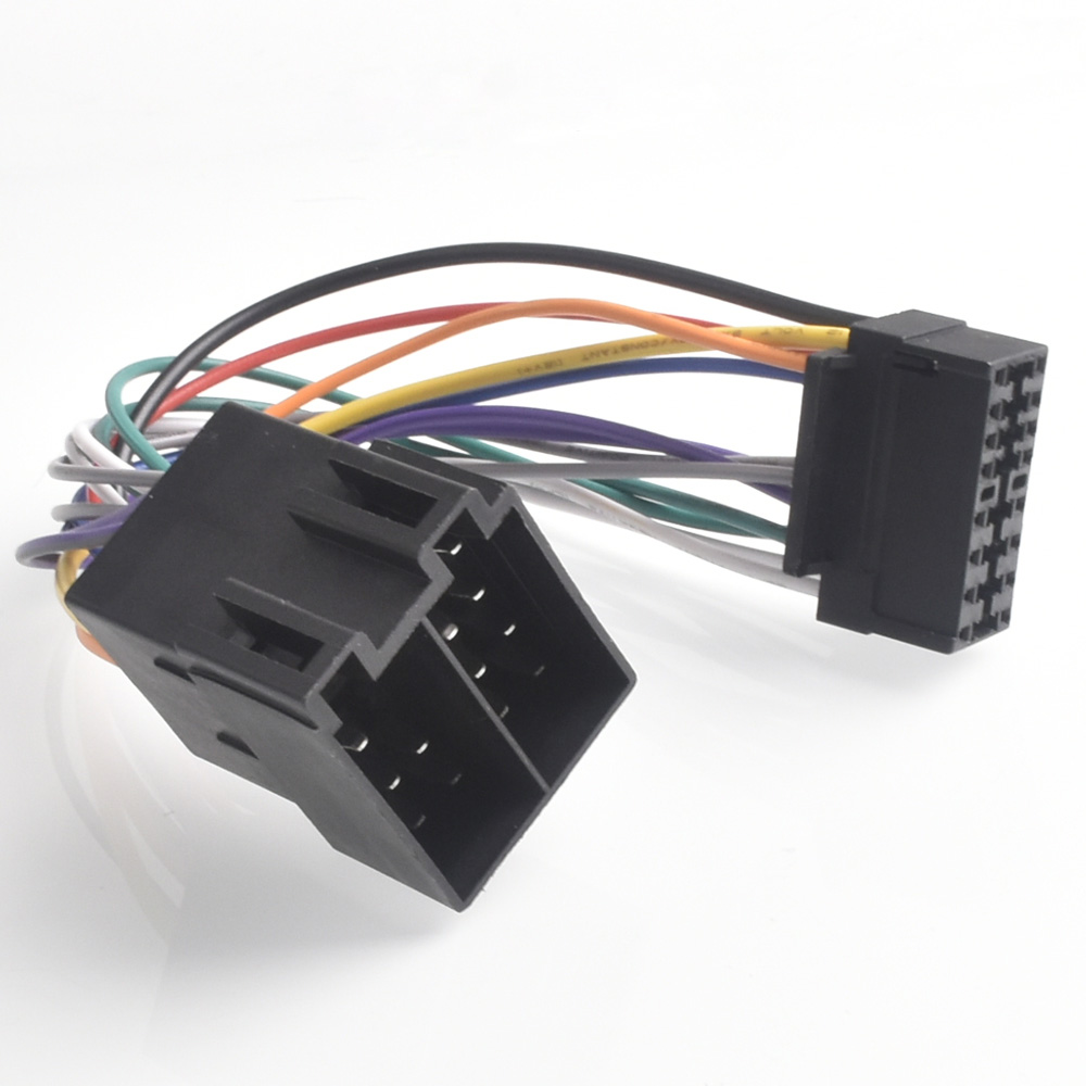 16Pin Car Stereo Radio Harness ISO For Sony Radio To ISO Radio Play Plug Auto Adapter Wiring Harness Connector