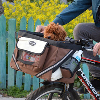 Hot Selling Safe Bike Dog Bags Comfort Carrier for Cats Outdoor Travel Pet Carriers Bicycle Removable Basket