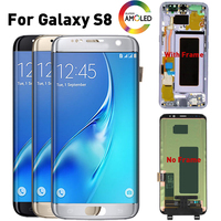 Original Super Amoled LCD For Samsung S8 LCD Display for SAMSUNG Galaxy S8 LCD G950 G950F Display lcd Touch Screen Digitizer