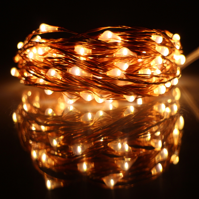 10M 33FT 100 led USB Outdoor Led Copper Wire String Lights ...