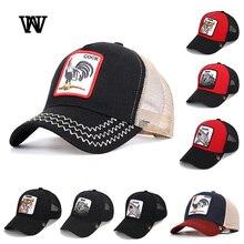 Бейсбольная кепка с животными для мужчин и женщин, сетчатая Кепка s, женский рюкзак надпись: Hip Hop Gorra hombre Dad Hat, Лоскутная Солнцезащитная Мужская бейсболка, летняя BQM-CZX5
