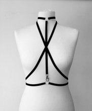 2016 new fashion Caged bust bondage Bra Bondage Lingerie Black Gothic Club Erotic Choker underwear vampire sexy clip retail