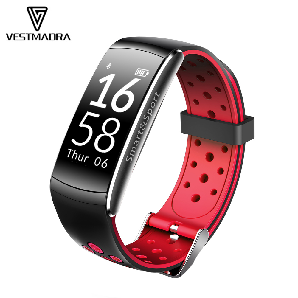 VESTMADRA Q8 Smart Bracelet Heart Rate Monitor Fitness Tracker Wristband IP68 Waterproof Swimming Smartband for Android IOS lenovo hw02 smartband bluetooth heart rate monitor smart bracelet waterproof sport wristband fitness tracker for android ios