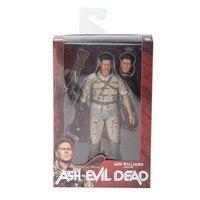 NECA The Evil Dead Ash Vs Evil Dead Ash Williams Eligos PVC Figure Collectible Model Toy With Box 7 18cm