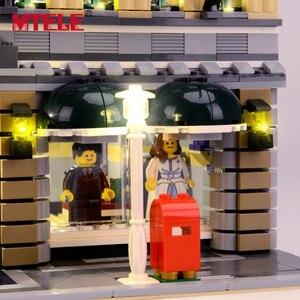 Image 5 - MTELE מותג LED אור עד לgrand אמפוריום בלוקים תואם עם 10211 לילדים חג המולד מתנה (לא כולל את דגם)