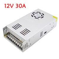 Power Supply Lighting Transformers AC 110V 220V DC 12V 30A 360W for LED Strip Light Switch led Driver Power Adapter