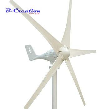 New design 400W wind generator 12v 24v wind turbine with 3 blades or 5 blades for streetlight garden lighting or home use