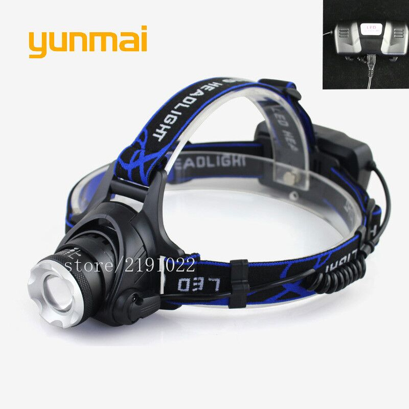 Micro Usb Cable 3000 lumen Led Headlight XML-T6 Zoom Head Torch Light Lamp Rechargeable 18650 HeadLamp for Camping Hiking