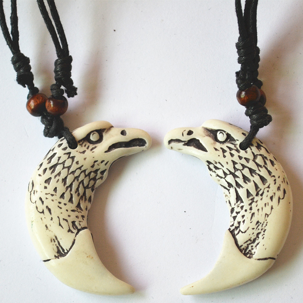 Fashion Necklace Popular Gift Yak Bone Carved Eagle Horse Wolf Turtle Animal Totem Pendant Necklace Black Rope Adjustable Pendant Necklace Necklace Blackyak Bone Aliexpress