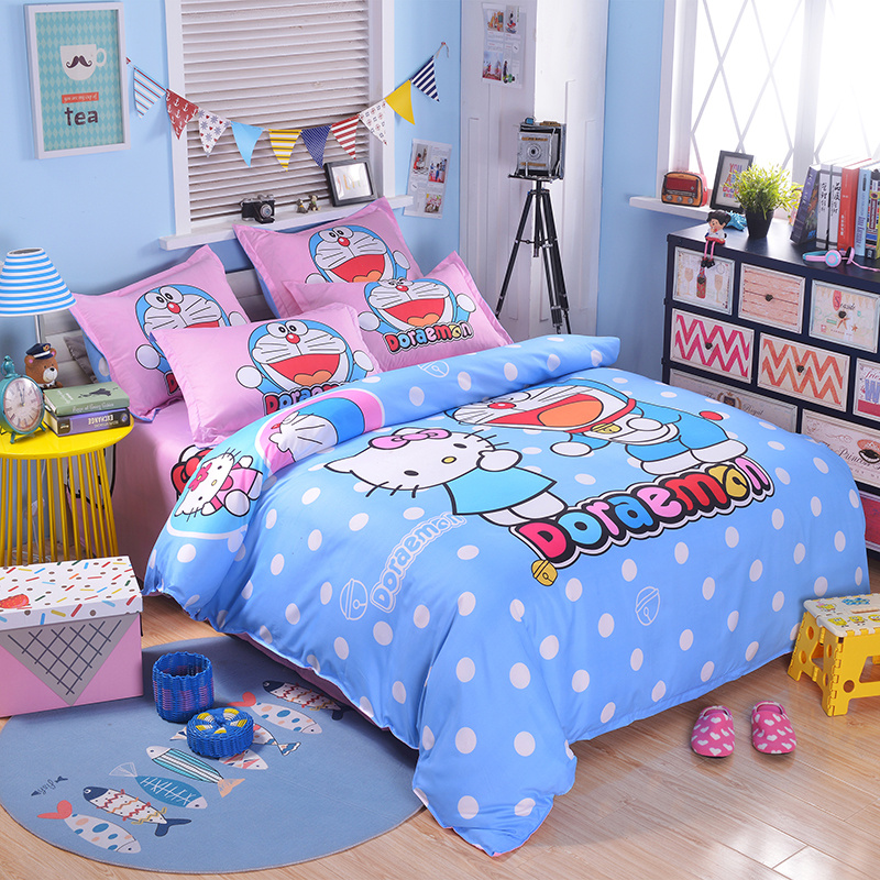 UNIKIDS Cute cartoon duvet cover set bedding set for Kids boy or girls Twin size KT010