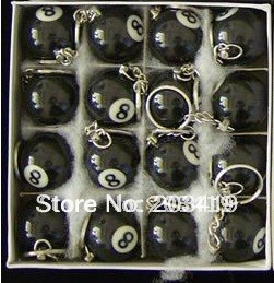 novelty Pool snooker table ball keychain the same material as the real BILLIARDS small number black wholesale