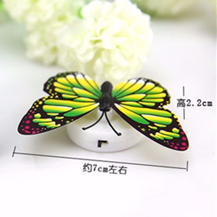 Home Decor Wall Stickers Wholesale Colorful Artificial Butterfly Led Night Light Home Party Bedroom Wedding Decoration Lights Lamp Wall Sticker Kids Gift