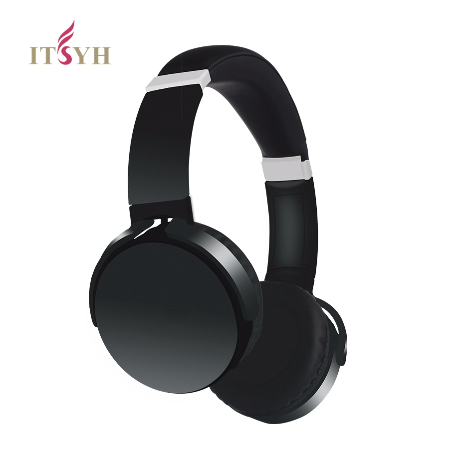ITSYH Wireless Bluetooth headphones headphones for a mobile phone with microphone stand by TF Card headset +3.5mm Audio Line