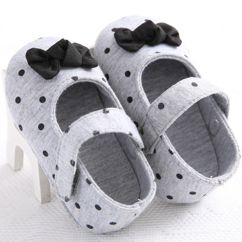 Baby shoe footwear Girls boys Kids casual shoes bow knot Anti-Slip Crib Soft Sole Prewalkers Footwear Crib for 1-2years