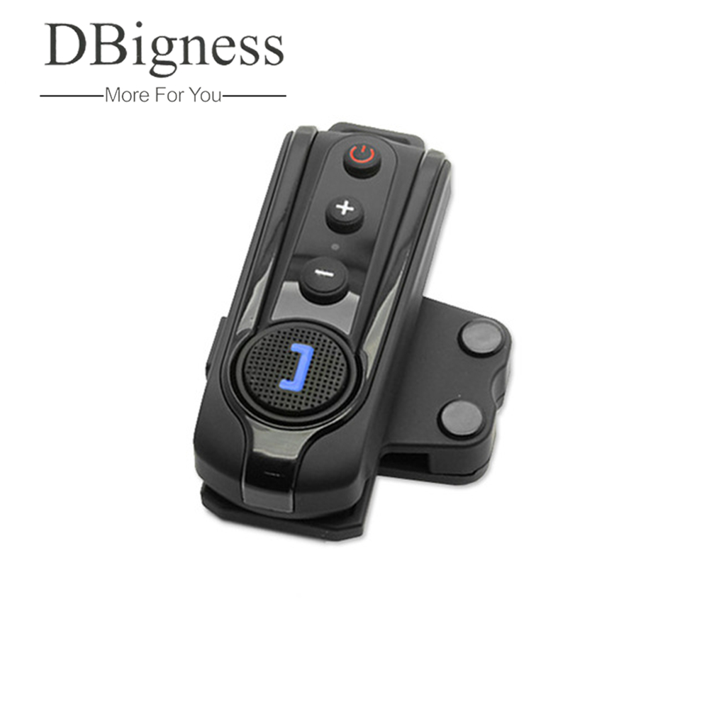 Dbigness Free Shipping BT-S1 1000m Interphone Bluetooth Motorcycle Motorbike Helmet Intercom Headset FM 2016 newest bt s2 1000m motorcycle helmet bluetooth headset interphone intercom waterproof fm radio music headphones gps