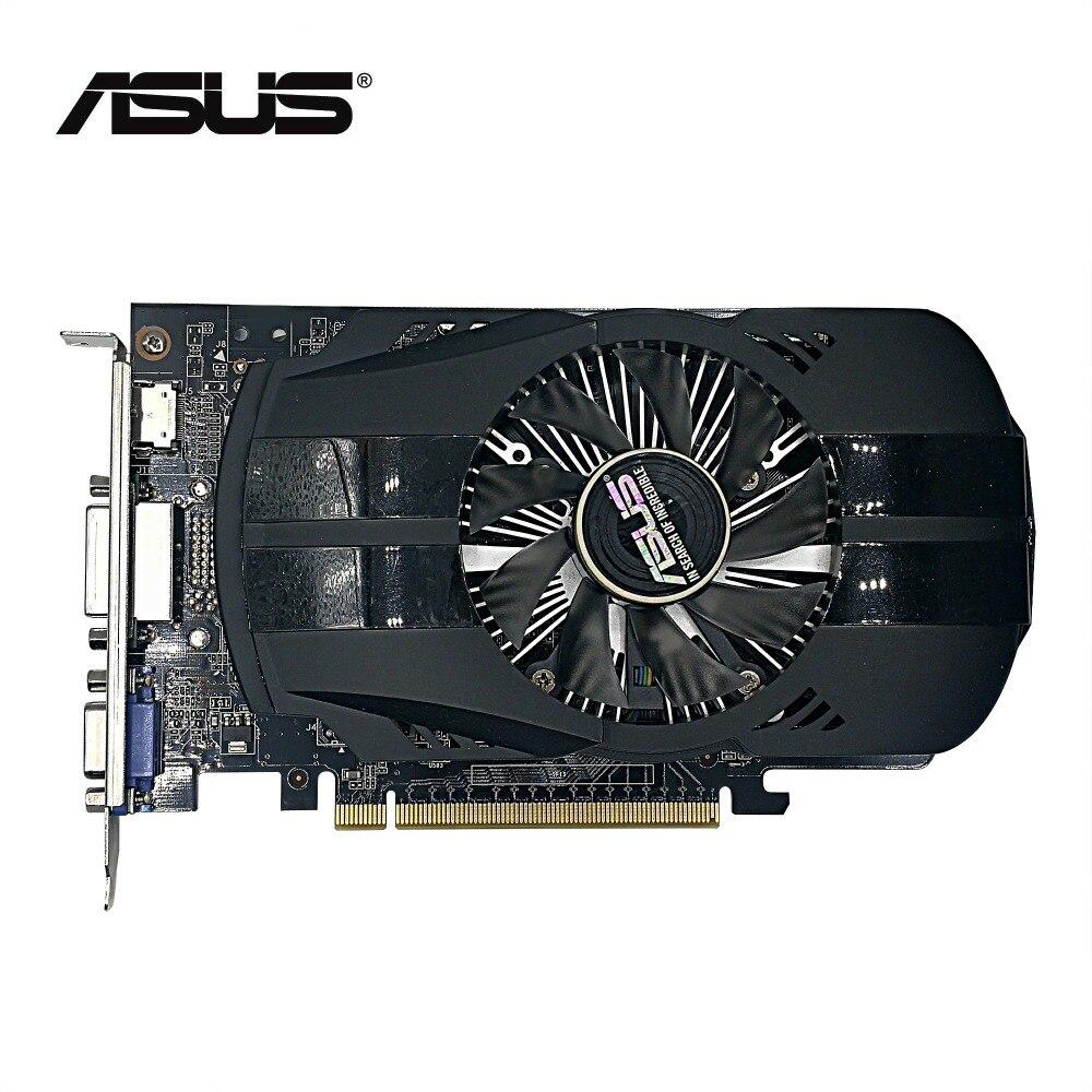 Utilisé, 2 PCS/LOT ASUS GTX 750 2G GDDR5 128bit HD carte graphique, 100% testé bon!