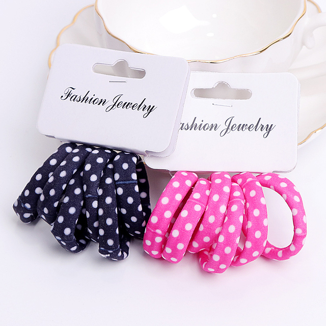 6PCS/Pack New Korean Cotton Print Hair Ropes Leopard High Elastic Headband Elegance Hair Bands For Women Girls Hair Accessories