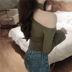 Colorfaith Women Pullovers Sweater 2019 Knitted Autumn Spring Fashion Bottoming Sexy Off the Shoulder Elegant Ladies Tops SW9989 5