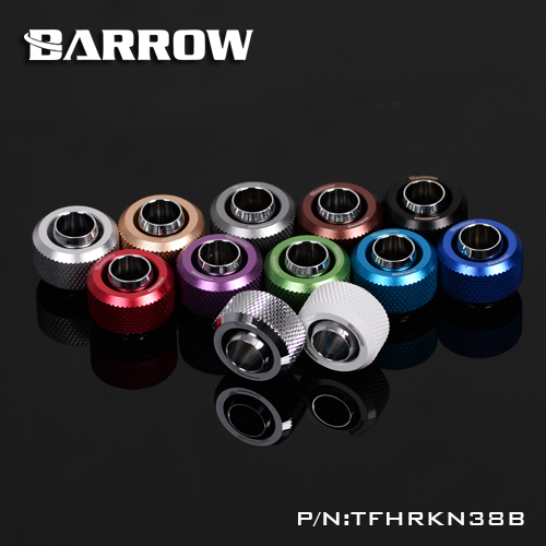 BARROW Fitting use for Inside Diameter 9.5mm + Outside Diameter 12.7 Soft Tube 3/8ID X 1/2OD Tubing Hand Fittings THKN-3/8-B03 barrow white black red g1 4 3 8od x 5 8od 10 x 16mm tubing hand compression fittings water cooling fitting