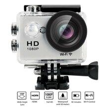 Yuntab W9 Wifi Waterproof 2 inch action sports camera 12mp 170 Degree 1080p LCD Digital Sports Action Camera(silver)