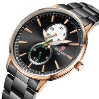 Мужские часы для мужчин, модные деловые часы, золотые мужские повседневные водонепроницаемые кварцевые наручные часы из нержавеющей стали,