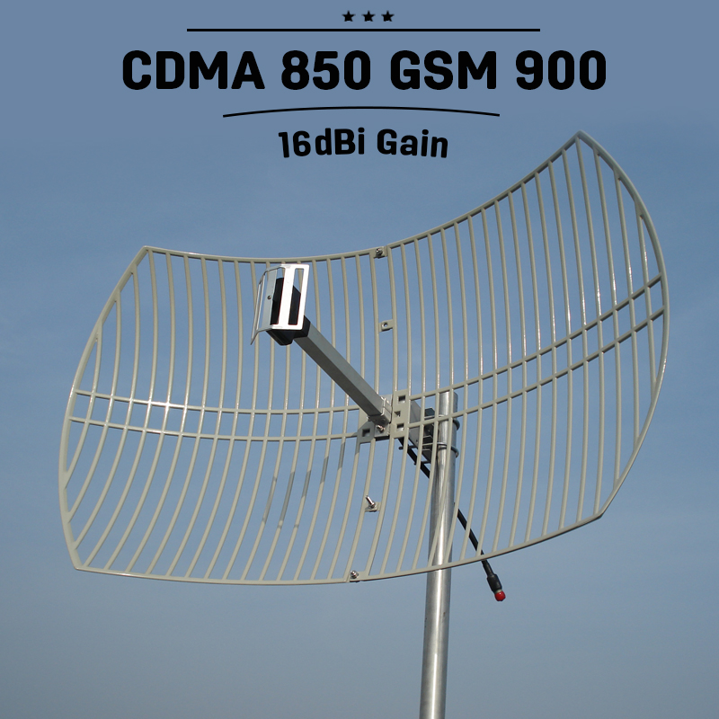 2G 3G CDMA UMTS 850mhz 16dBi High Gain Grid Antenna External Antenna Mobile GSM 900mhz Outdoor Mobile Phone Signal Antenna S23