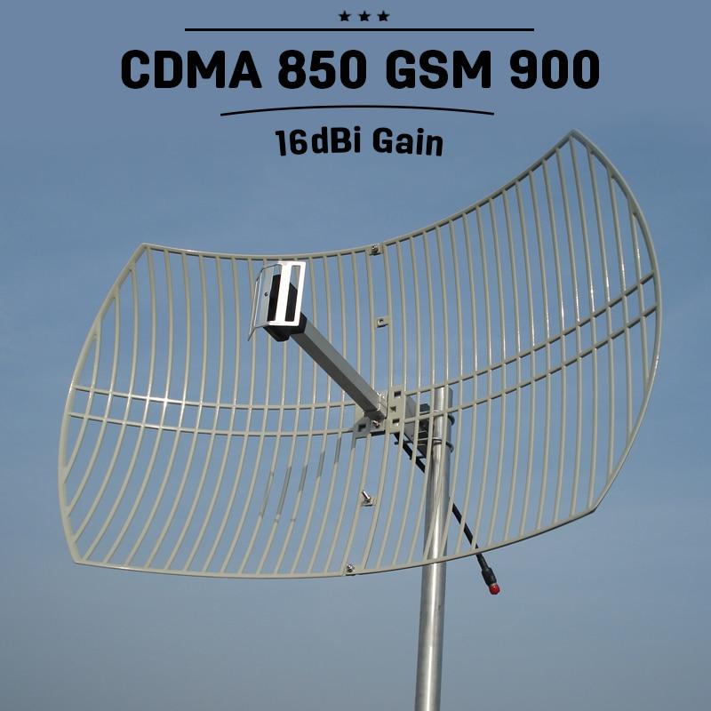 2G 3G CDMA UMTS 850mhz 16dBi High Gain Grid Antenna External Antenna Mobile GSM 900mhz Outdoor Mobile Phone Signal Antenna S23