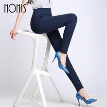 Nonis High Waist Thicken Warm Velvet Women Pencil Pants For Winter Stretch Plus Size Ladies Skinny Long Trousers Femme Pantalon