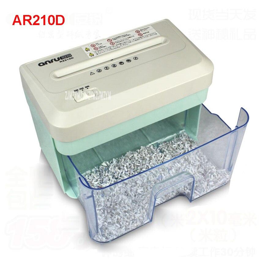 AR210D 2.1L Electric Mini Shredder File Shredder Strip Office Home High Power Electric Shredding 110-220V paper shredder 156mm