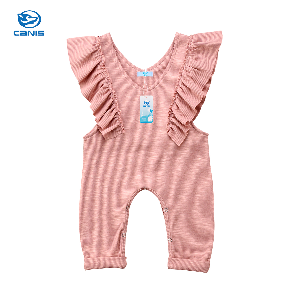 2018 Newborn Kids Baby Girls Romper Ruffle Lovely Romper Jumpsuit Knitted Romper Outfit Clothes Summer fashion 2pcs set newborn baby girls jumpsuit toddler girls flower pattern outfit clothes romper bodysuit pants