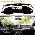 2016 Car Styling Sombra Protectora Dashboard Mat Cojín Pad Photophobism Alfombra Interior Para Audi A6 2012-2014