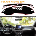 2016 Estilo Do Carro Dashboard Mat Sombra Protetora Almofada Photophobism Pad Tapete Interior Para Audi A6 2012-2014