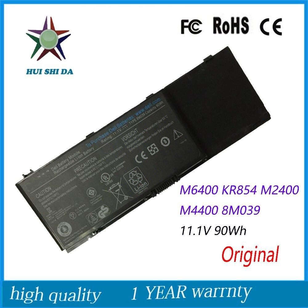11.1V 90WH New  Original   Laptop Battery for Dell Precision M2400 M4400 M6400 M6500 312-0873 8M039 C565C DW842 KR854 J012F laptop battery 9kgf8 11 1v 60wh for dell latitude 6430u 312 1424 ultrabook series 6fntv e225846 trm4d xx1d1 7xhvm