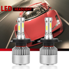 2 PCS 72W 8000LM 6500K H4 H1 H3 Turbo LED Car Headlight H7 H8 H9 H11 H27/880/881 9005 HB3 9006 HB4 9007 Led Fog Light Bulb(China)
