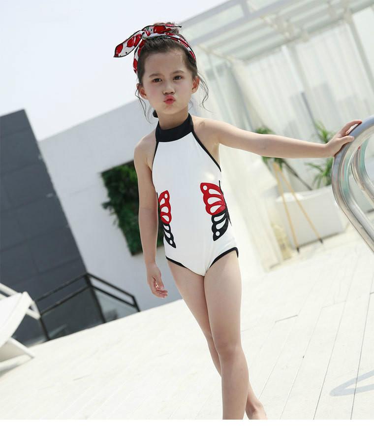 3b41c1a2e7617 Großhandel Baby Mädchen Badeanzug Verbunden Kinder Strand Bademode ...