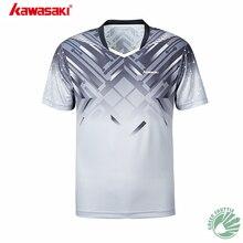 Новинка, профессиональная Летняя мужская футболка для бадминтона Kawasaki, с коротким рукавом, ST-S1114, ST-S1115, быстросохнущая футболка