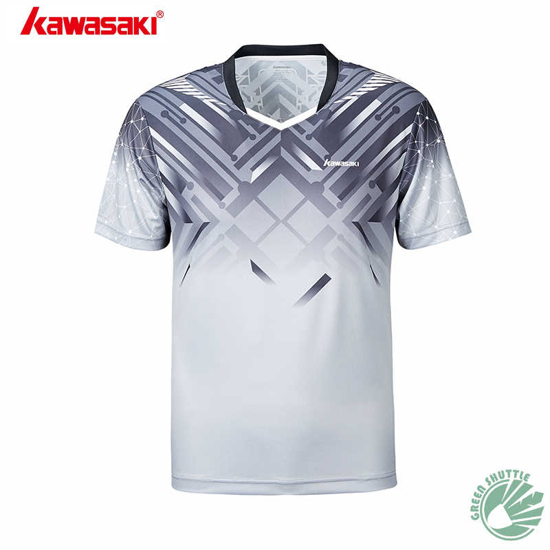 New Professional 2019 Summer Kawasaki Men Badminton T-shirt With Short Sleeves ST-S1114 ST-S1115 Quick-dry Jersey