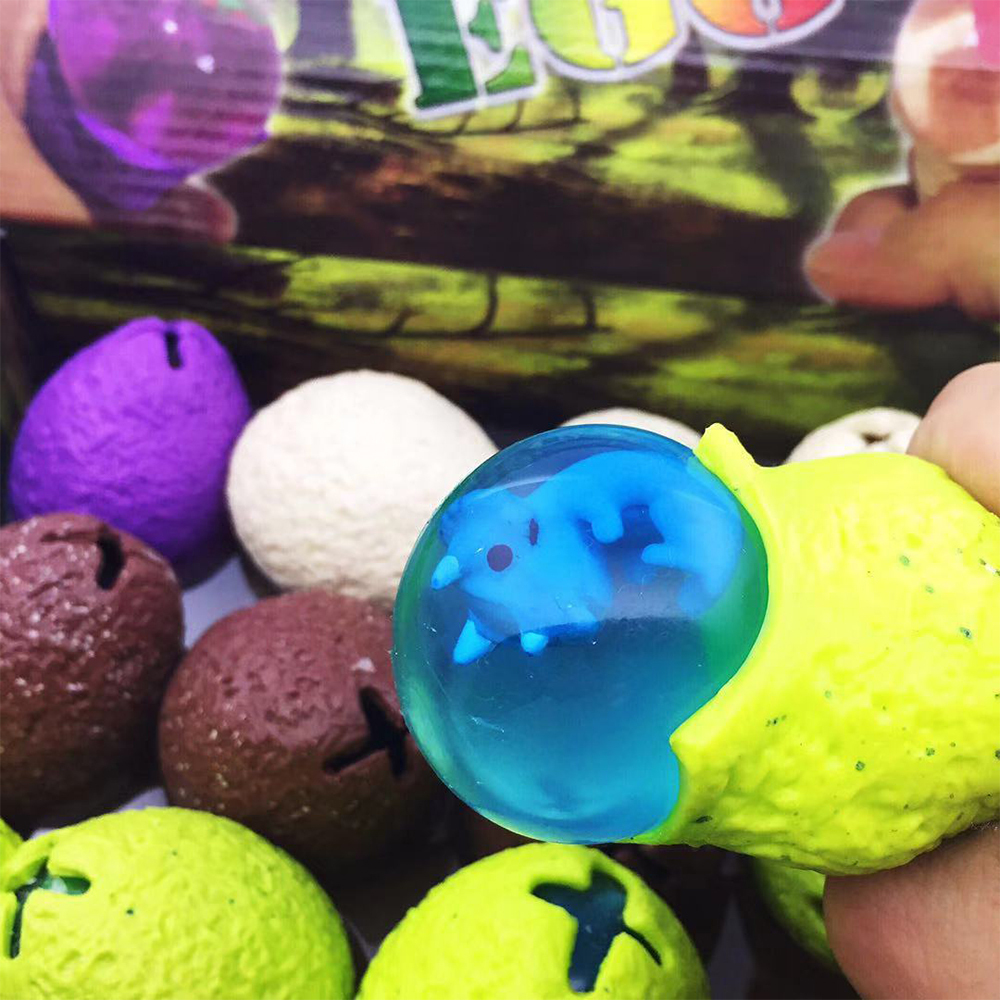 New 1 PCS Squeeze Toy Funny Dinosaur Egg Ball Squishy Vent Mesh Ball Decompression Children's Toys Beads Extrusion Adult Toy