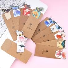 5 шт./лот с кавайным животным Закладка с бабочкой Бумага книга марка креативный декоративный Бумага карты школьные канцелярские принадлежности