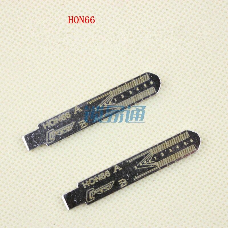 10pcs Engraved Line Key For HON66 2 In 1 LiShi Scale Shearing Teeth Blank Car Key Locksmith Tool