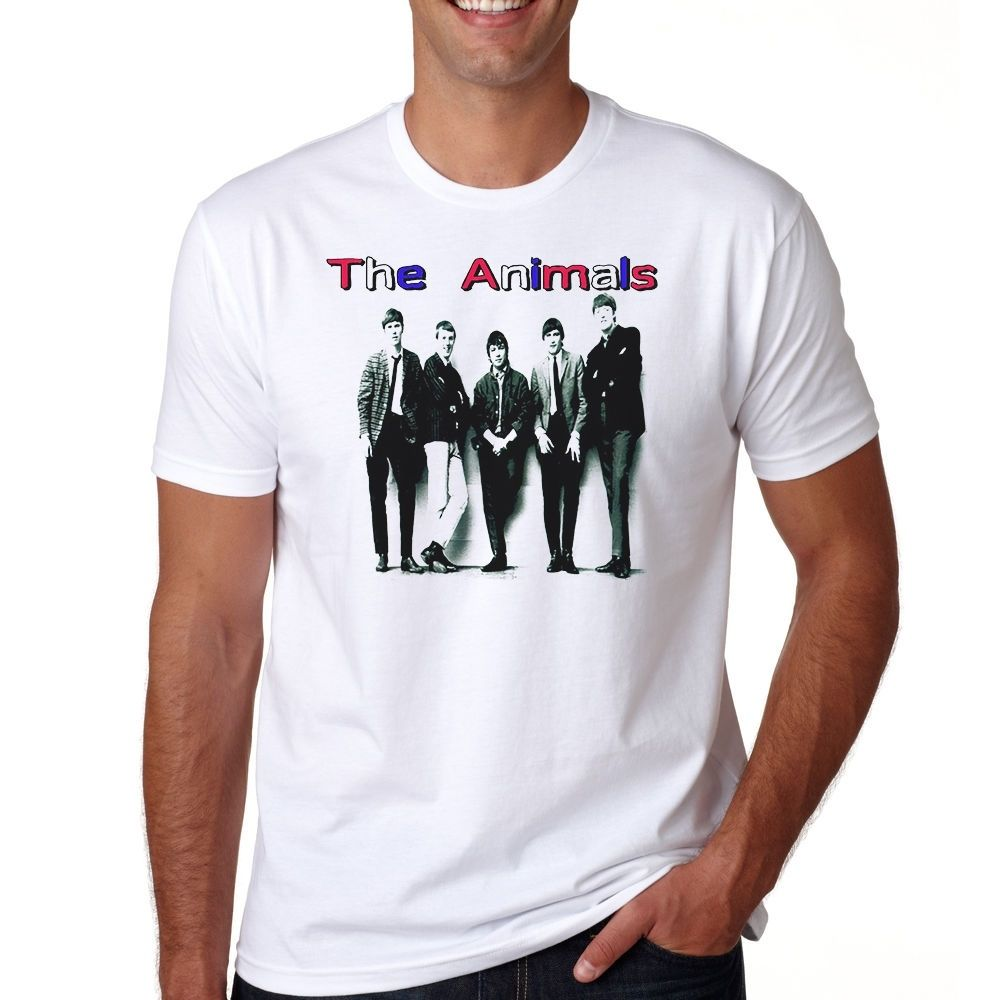 The Animals Tee S-3XL T-Shirt Hard Rock Band Zoot Money's Big Roll Band Summer Man T Shirt Tops Tees New Loose Clothes image