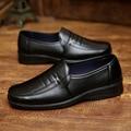 Hombres Resbalón En los Zapatos de Cuero Casuales De La Moda de Primavera Otoño Hombres Marca de Lujo de Negocios Pisos chaussure homme Z560