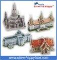 Тайский знаменитого архитектора 4 компл. с храм рассвет, Chakri маха Prasat и Ananta Samakhom тронный зал, Мраморной Temple3Dpuzzle