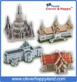Thai Famous Architecture 4 SETS with Temple of Dawn,Chakri Maha Prasat &Ananta Samakhom Throne Hall ,The Marble Temple3Dpuzzle