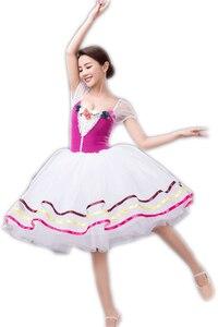 Детское балетное длинное платье, новое профессиональное танцевальное платье, модное платье для шоу, костюмы, танцевальное балетное платье ...