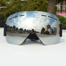 Winter Frameless Ski Goggles Big spherical Snowboard Sunglasses Anti-F